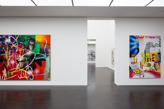 "Exhibition ""Cool Place"", Kunstmuseum Stuttgart with works of Albert Oehlen"