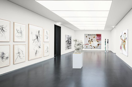 "Exhibition ""Cool Place"", Kunstmuseum Stuttgart with works of Albert Oehlen, Julian Schnabel and Rebecca Warren"